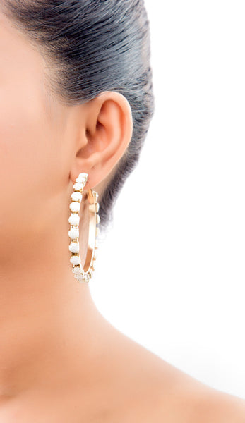 Jane Pebble Hoop Earrings