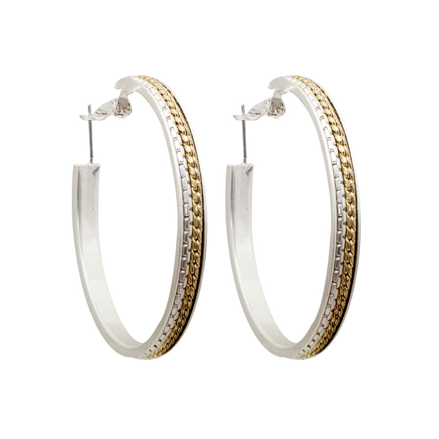 Double Colour Veni Wire Hoop Earrings