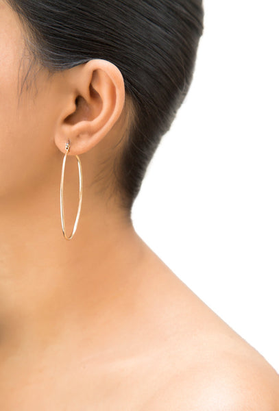 Ora Oval Hoop Earrings