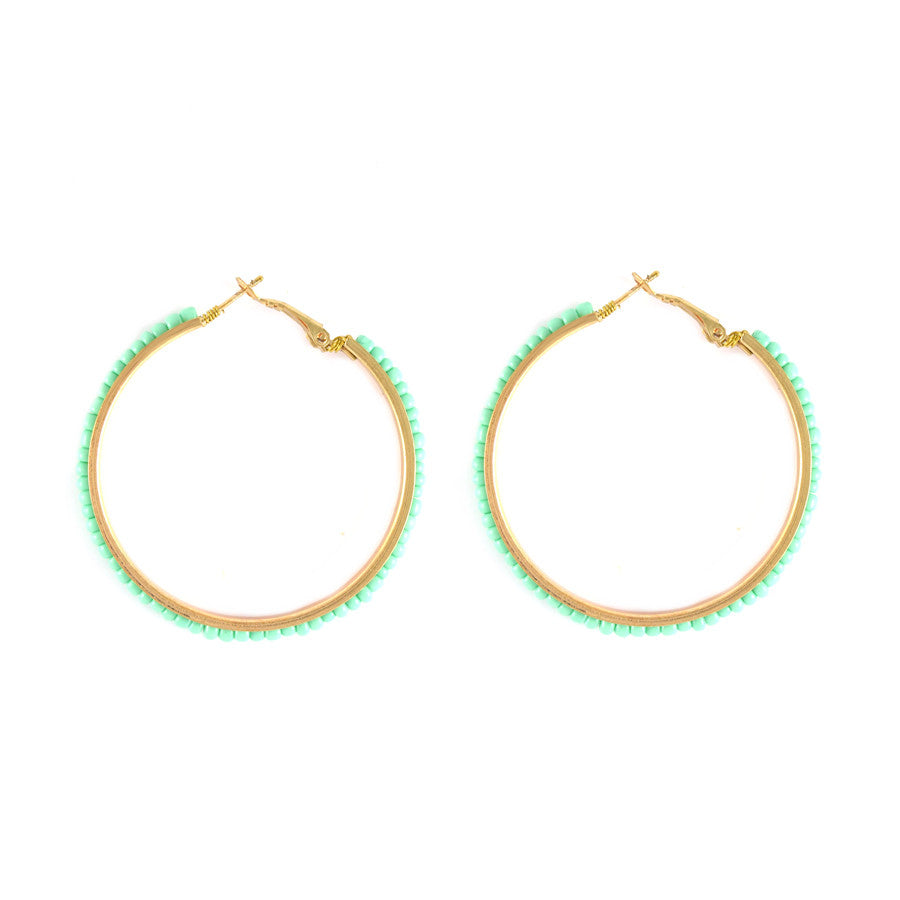 Shayna Beaded Hoop Earrings