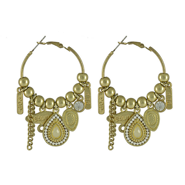 Esmeralda Gypsy Charm Hoop Earrings