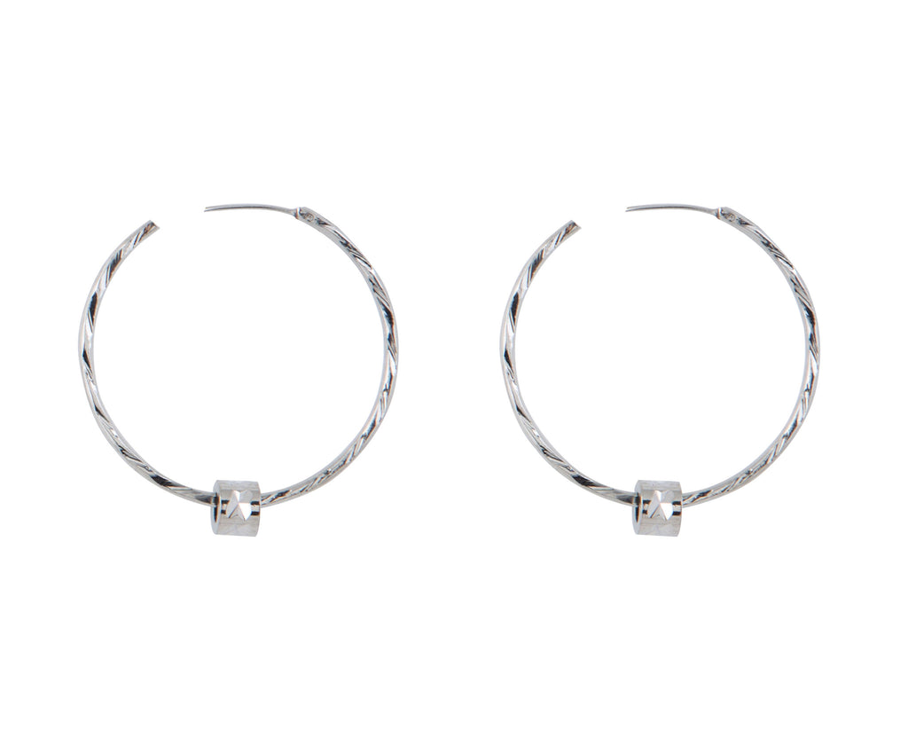Zoe Twisted Wire Stainless steel Hoop Earrings