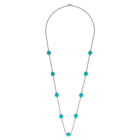 Naomi Blue Bead Chain