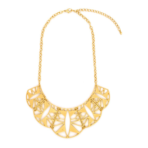 Aisha Sun Ray Scallop Necklace