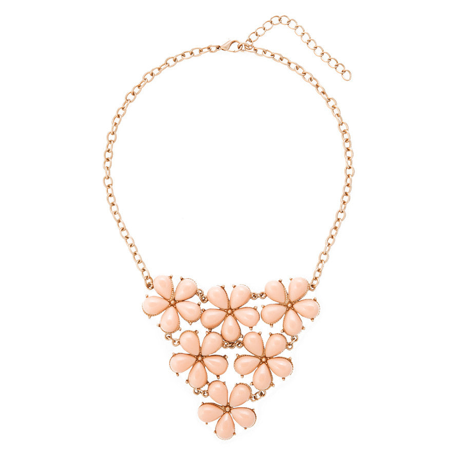 Angelique Peach Floral Necklace