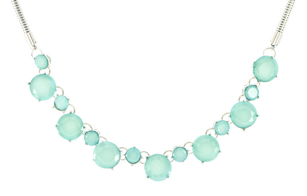 Aqua String Necklace
