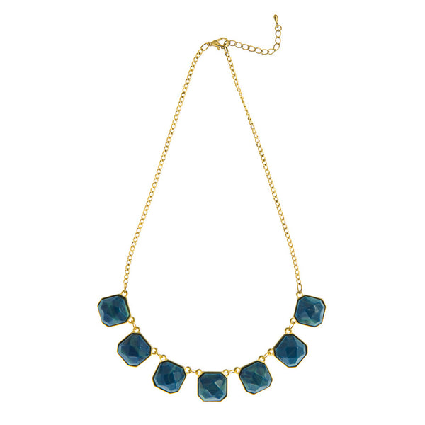 Jane Cobalt Blue String Necklace