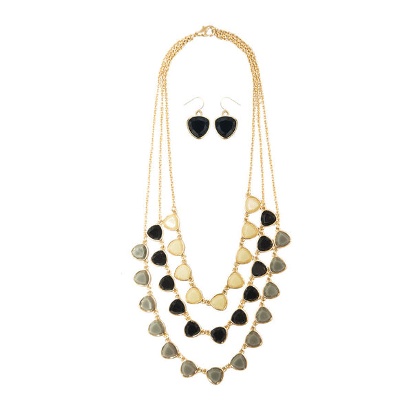 Penelope Layered Stone Necklace