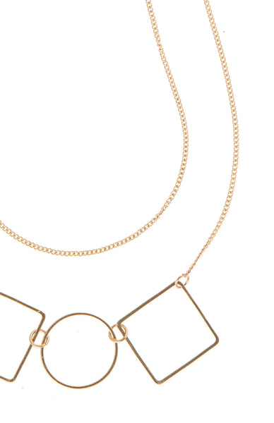 Tara Square Circle Necklace