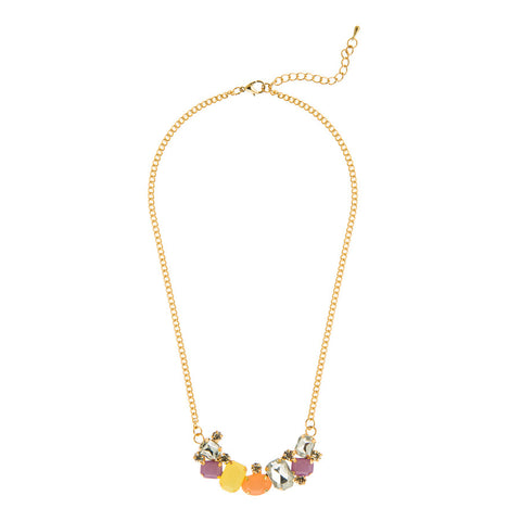 Caitlyn Multicolored Row of Stones Necklace