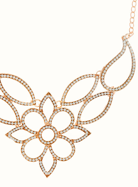 Yasmin Stone Studded Statement Necklace