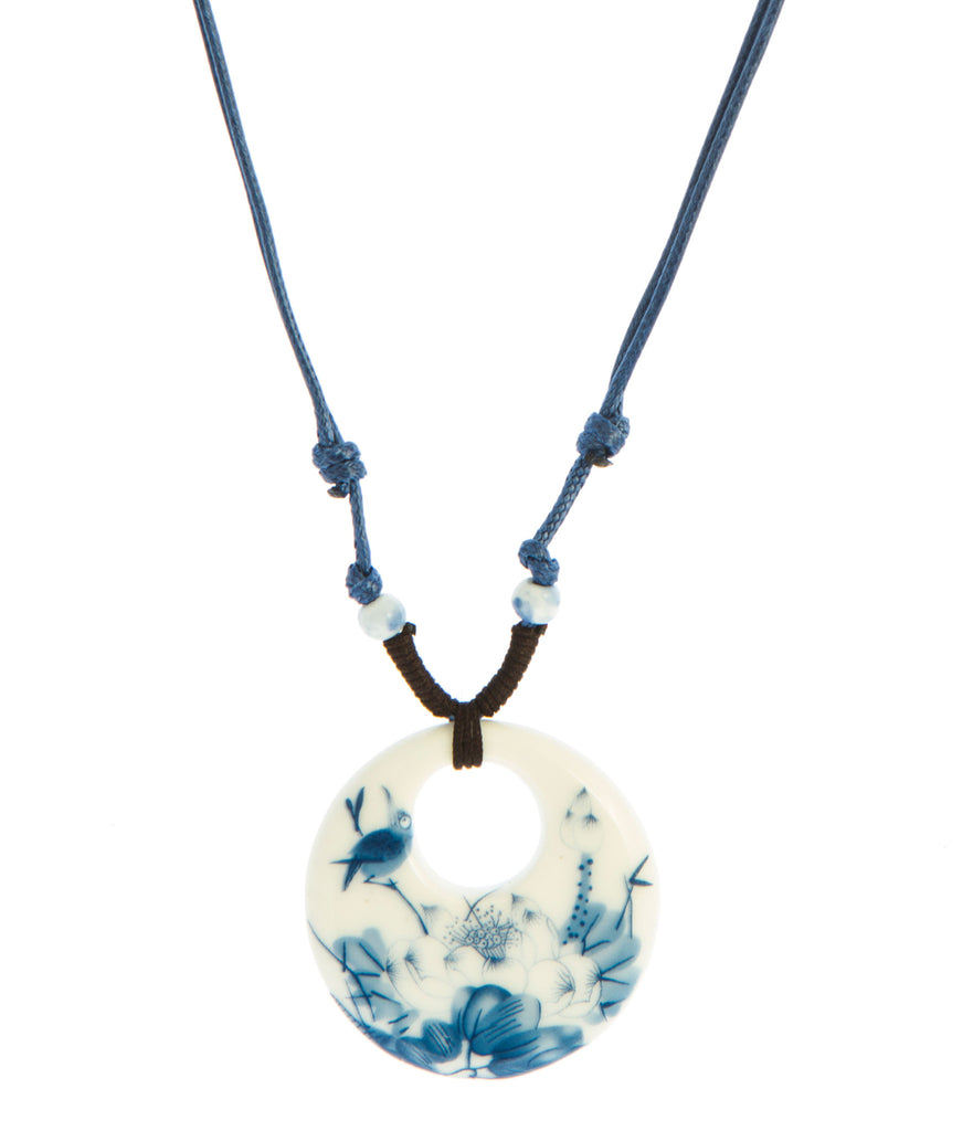 Baublebeads Blue Bird Ceramic Pendant