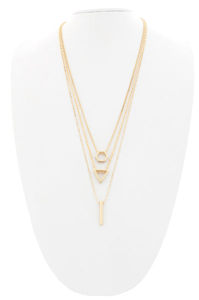 Eve Layered Geometric Pendant