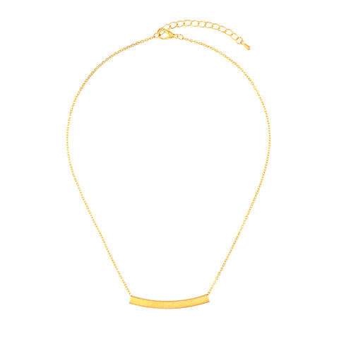 Mimi Gold Curved Band Pendant
