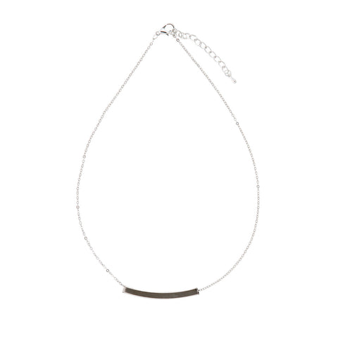 Mimi Silver Curved Band Pendant