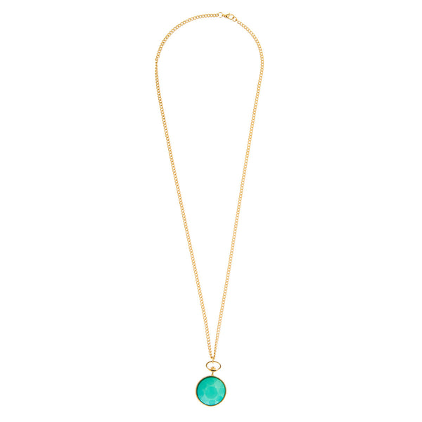 Keira Green Faceted Stone Pendant