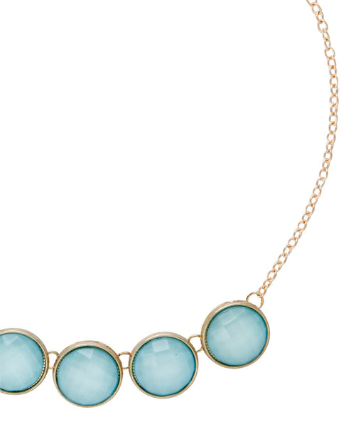 Robyn Blue Row of Stones Necklace