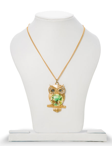 Brook Brown Eyed Owl Pendant