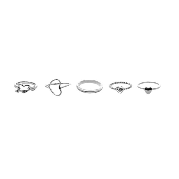 Bloom Hearts Stackable Rings