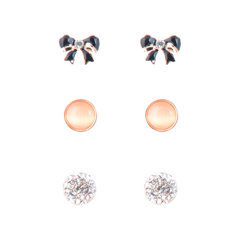 3 x Going to the Ball Stud Earrings