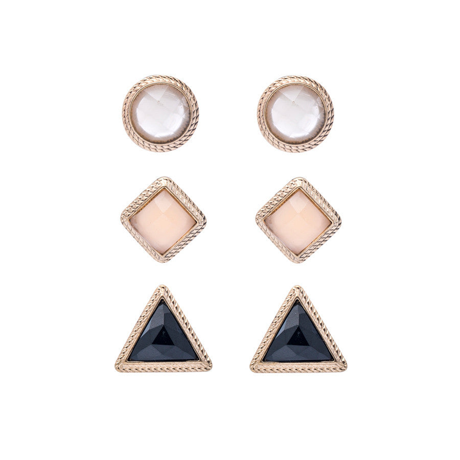 Ana Geometric Studs Earrings