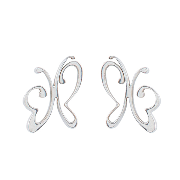 Butterfly Stainless Steel Drop Earrings
