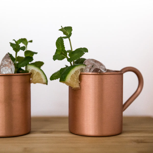 Stainless Steel Mugs, Copper (Set of 2)