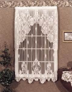 "Heritage Lace Curtain Pattern Windsor 60"" X 30"" Tier Antique Ecru Discontinued"