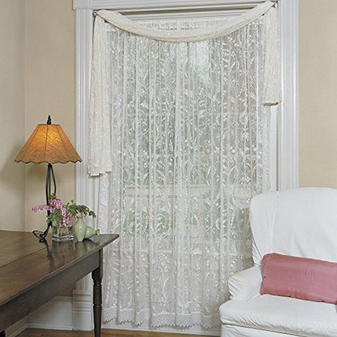 Heritage Lace Coventry Curtain Panel with Trim
