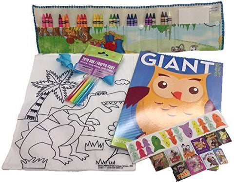 Activity Coloring Bundle Bernstein Bears Print: Crayon Case, Crayons, Tote w/Markers, Stickers