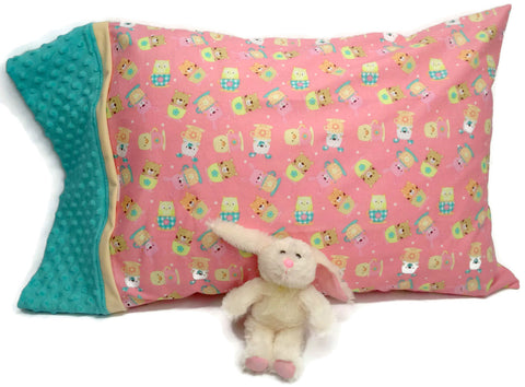 Comfy Soft Pillowcase with Cute Plush Bunny Toy