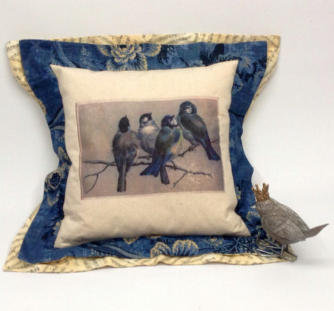 French Vintage Novelty Handmade Pillow Paris Pillow