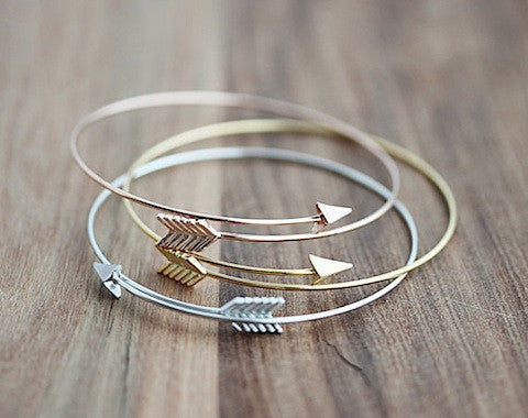 Arrow Open Bangle Bracelet - Free Shipping - Jewelry - Hello Wander