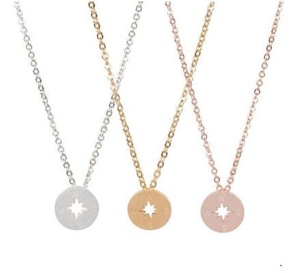 Compass necklace - Free Shipping - Hello Wander - 2
