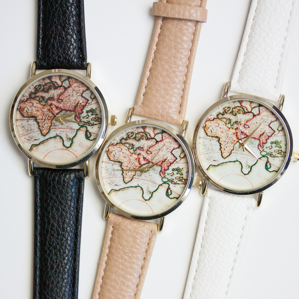 World Map Watch - Free Shipping - Hello Wander - 1