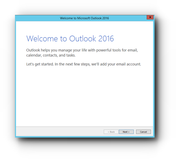 MS Outlook 2016