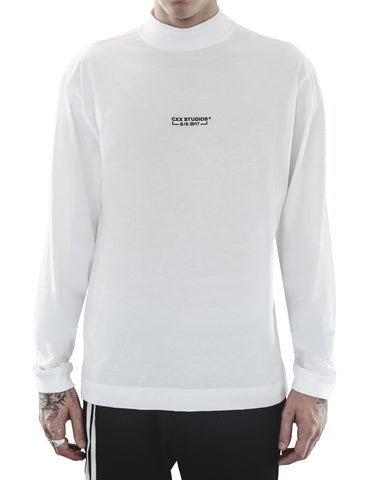 White Essential Mock Neck