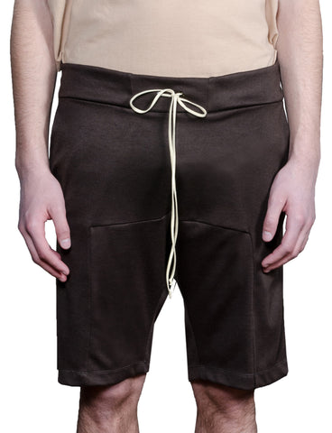 Paneled Shorts - Brown