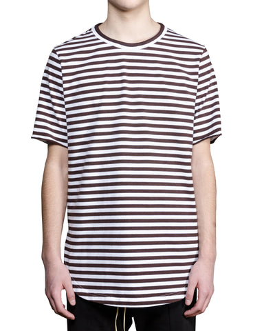 French Breton Striped Tee - Chocolate