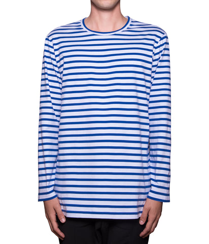 French Breton Striped Tee - Royal