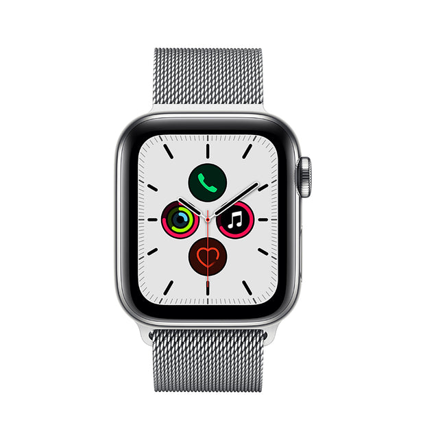 "<span style=""color: #ff9900;"">NEW! </span> Apple Watch Series 5 Stainless Steel Case with Milanese Loop"