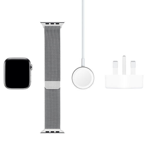 Apple Watch Series 5 Stainless Steel Case with Milanese Loop