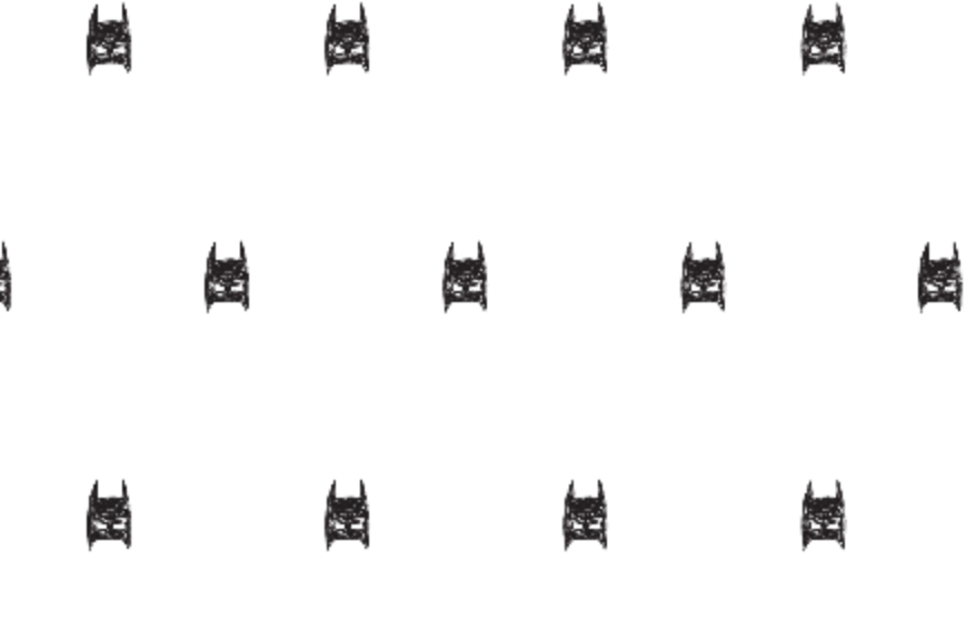 Hand drawn batman Fabric