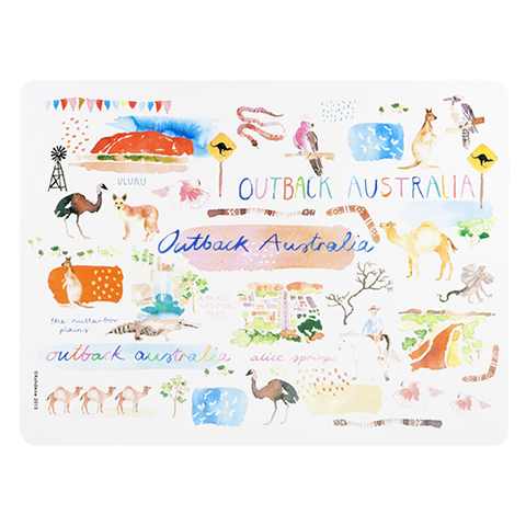 ASHDENE Placemat Australia Down Under Outback