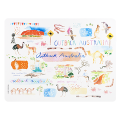 ASHDENE Placemat Australia Down Under Outback - Houzethat