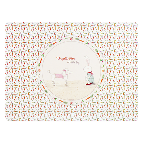 ASHDENE Placemat Ruby Red Shoes Petit Chien