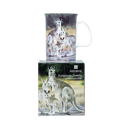 ASHDENE Mug  Kangaroo Family (Bone China)