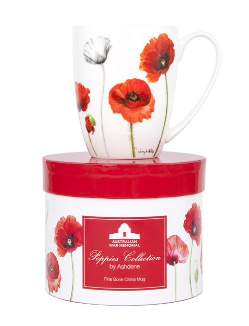 ASHDENE Coupe Mug  Poppies (Bone China) - Houzethat - 2