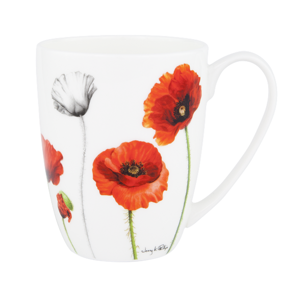 ASHDENE Coupe Mug  Poppies (Bone China) - Houzethat - 1