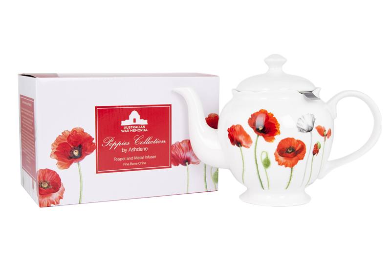 ASHDENE Teapot with infuser Poppies - Houzethat